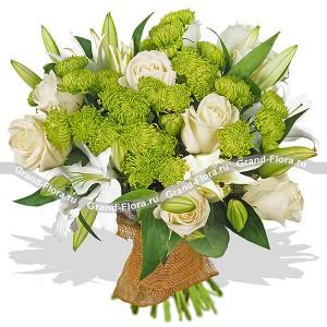Цветы саратов недорого доставка, букет с цимбидиумом и кустовой розы